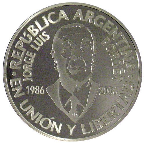 Moneda Jorge Luis Borges