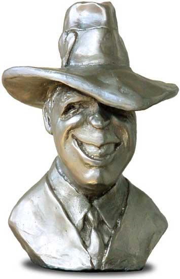 Gardel - Busto de plata premios CAPIF